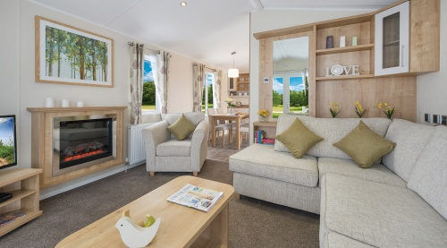 Lounge in a Super Luxury Caravan