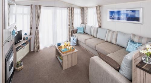Lounge in a Luxury Caravan